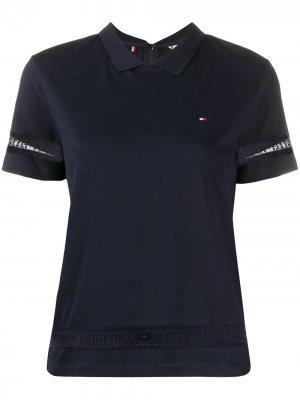 Рубашка поло с кружевом Tommy Hilfiger. Цвет: синий