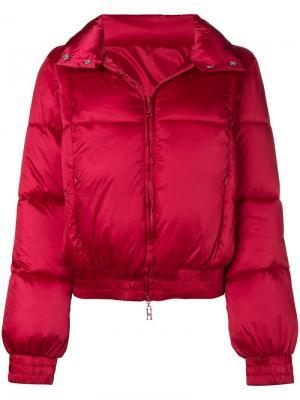 Дутая куртка-бомбер Pinko. Цвет: красный