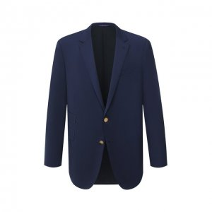 Шерстяной пиджак Ralph Lauren. Цвет: синий