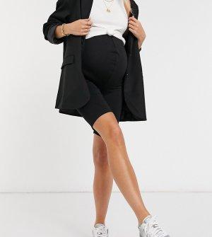 Черные леггинсы-шорты -Черный Missguided Maternity