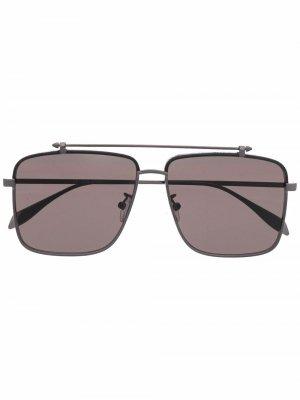 Солнцезащитные очки-авиаторы Alexander McQueen Eyewear. Цвет: черный