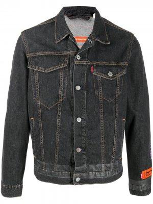 Джинсовая куртка с нашивкой-логотипом Heron Preston. Цвет: черный