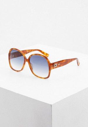 Очки солнцезащитные Max Mara MM FANCY II C9B. Цвет: коричневый