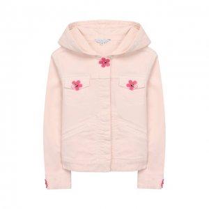 Джинсовая куртка MARC JACOBS (THE). Цвет: розовый