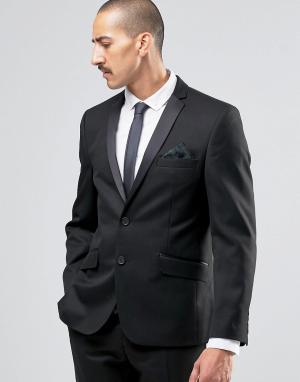Пиджак суперзауженного кроя Camden Ben Sherman. Цвет: черный