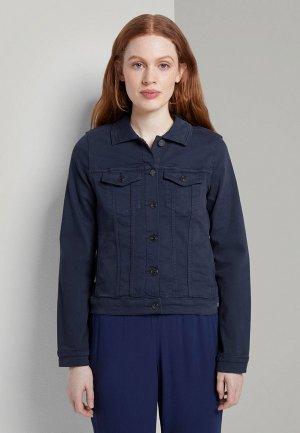 Куртка джинсовая Tom Tailor Denim. Цвет: синий