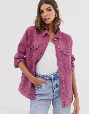 Джинсовая куртка French Connection. Цвет: фиолетовый