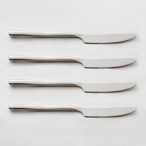 Комплект из 4 ножей La Redoute. Цвет: серый