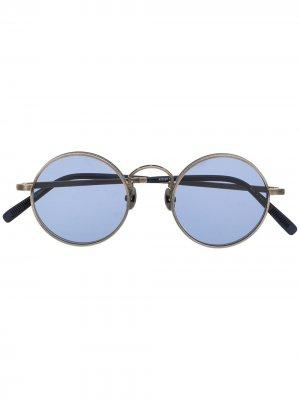 Солнцезащитные очки M3100 в круглой оправе Matsuda. Цвет: серебристый