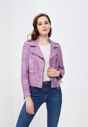 Куртка кожаная Imperial. Цвет: фиолетовый