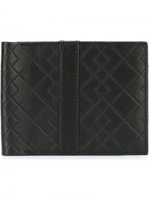 Классический бумажник Canali. Цвет: чёрный