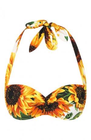 Бра-бандо Dolce & Gabbana. Цвет: желтый