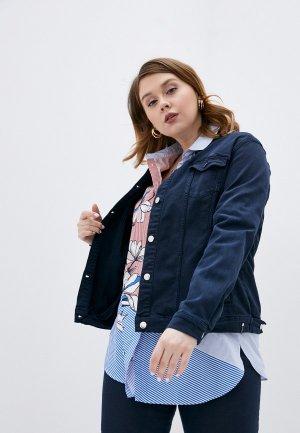 Куртка джинсовая Persona by Marina Rinaldi CAMMEO. Цвет: синий