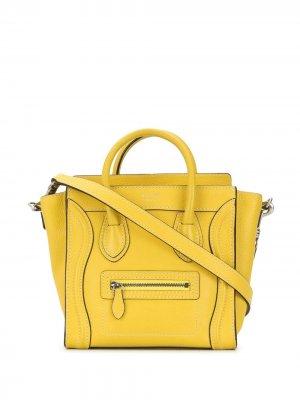 Сумка-тоут Nano Luggage pre-owned Céline. Цвет: желтый