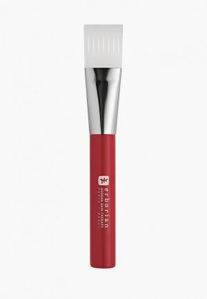 Кисть для лица Erborian нанесения масок, 2.5х16 см. Цвет: красный