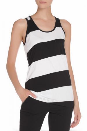 Майка American Apparel. Цвет: black white diagonal strp.