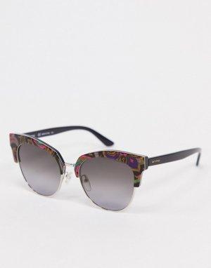 Круглые солнцезащитные очки с мраморным эффектом Etro-Мульти ETRO