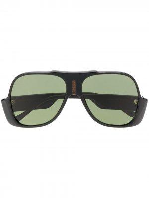 Солнцезащитные очки-авиаторы GG0785S Gucci Eyewear. Цвет: черный