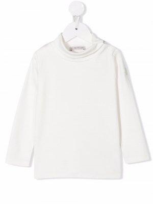Mock-neck cotton top Moncler Enfant. Цвет: нейтральные цвета