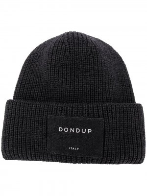 Ribbed-knit wool beanie Dondup. Цвет: серый
