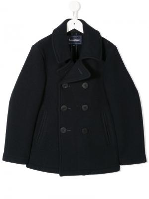 Double-breasted fitted coat Familiar. Цвет: синий