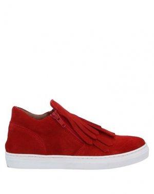 Низкие кеды и кроссовки EUREKA. Цвет: красный