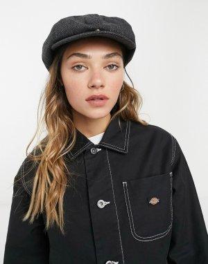 Черная плоская кепка Tucson-Черный Dickies