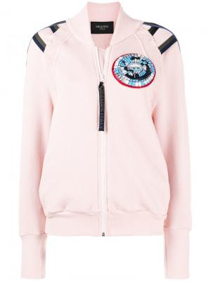 Patched bomber jacket Mr & Mrs Italy. Цвет: розовый