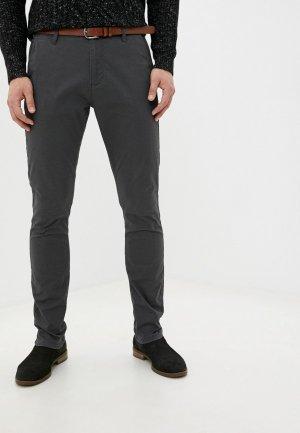 Брюки Indicode Jeans. Цвет: серый