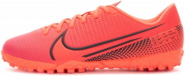 Бутсы для мальчиков Jr Vapor 13 Academy TF, размер 35 Nike. Цвет: красный