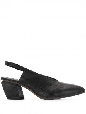 Туфли Severine с ремешком на пятке Officine Creative. Цвет: черный