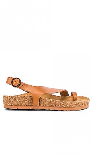 Сандалии maya Soludos. Цвет: коричневый
