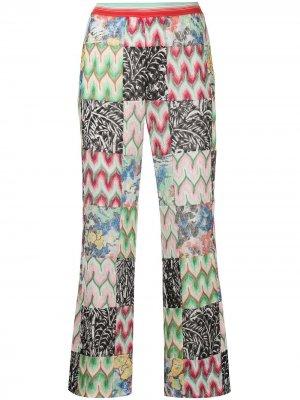 Укороченные брюки с контрастными вставками Missoni. Цвет: белый