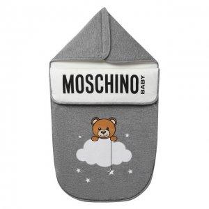 Хлопковый конверт Moschino. Цвет: серый