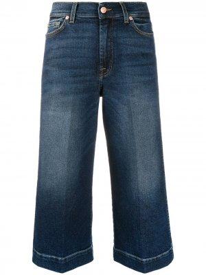 Укороченные широкие джинсы Luxe Vintage 7 For All Mankind. Цвет: синий