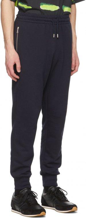 Navy French Terry Lounge Pants Dries Van Noten. Цвет: 509 navy