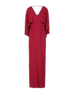 Длинное платье HALSTON. Цвет: красно-коричневый