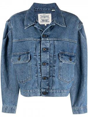 Levis: Made & Crafted укороченная джинсовая куртка с приспущенными плечами Levi's:. Цвет: черный
