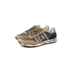 Комбинированные кроссовки Eric Premiata. Цвет: коричневый