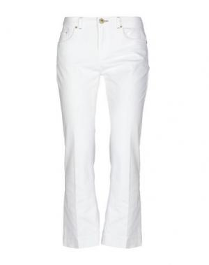 Джинсовые брюки-капри MALÌPARMI. Цвет: белый