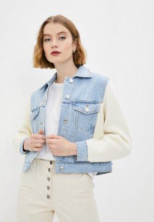 Куртка джинсовая Maje. Цвет: голубой