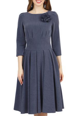 Платье Olivegrey. Цвет: джинсовый