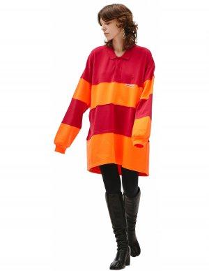 Красно-оранжевое поло с длинным рукавом Balenciaga