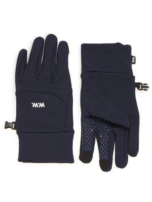 Перчатки WOOD. Цвет: темно-синий