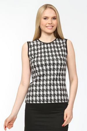Блуза Arrangee. Цвет: черно-белый