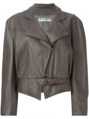 Байкерская куртка Guy Laroche Pre-Owned. Цвет: коричневый