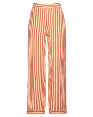 Повседневные брюки ICHI. Цвет: оранжевый