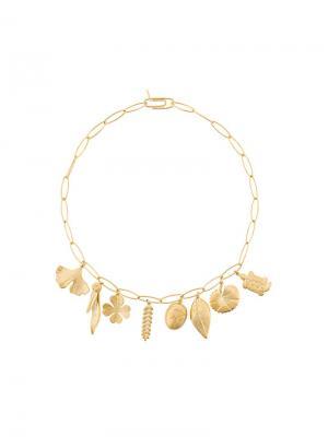 Ожерелье Aurelie Bidermann. Цвет: золотистый
