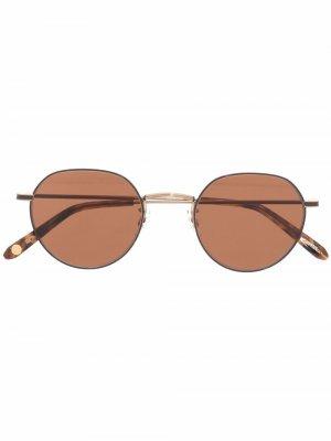 Солнцезащитные очки Paloma 46 в круглой оправе Garrett Leight. Цвет: золотистый