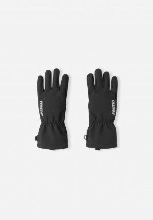 Перчатки из материала Softshell Tehden Черные Reima. Цвет: черный